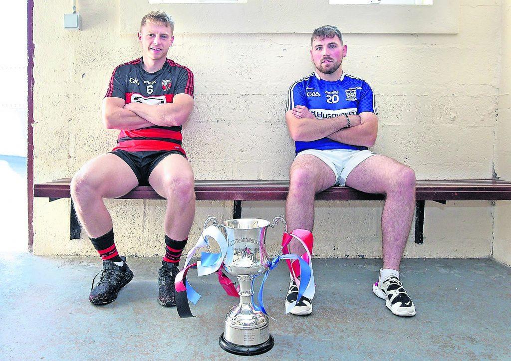 Ballygunner 's Philip Mahoney and Dungarvan's Ryan Donnelly relax before next Sunday's semi-final Photo: Noel Browne