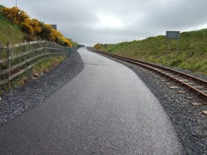 The Waterford Greenway runs parallel to the Waterford & Suir Valley Railway