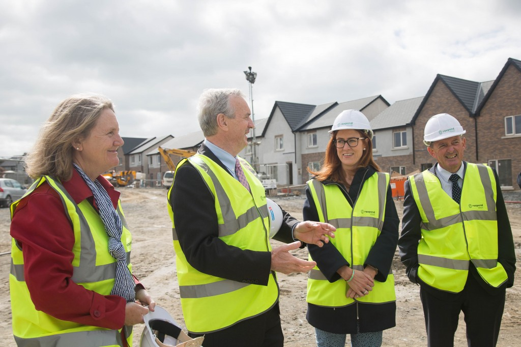 Repond's Della Power, Brendan Cummins, Vice Chair, Gillian Ormonde and Ray Fanning onsite at Kilbarry.