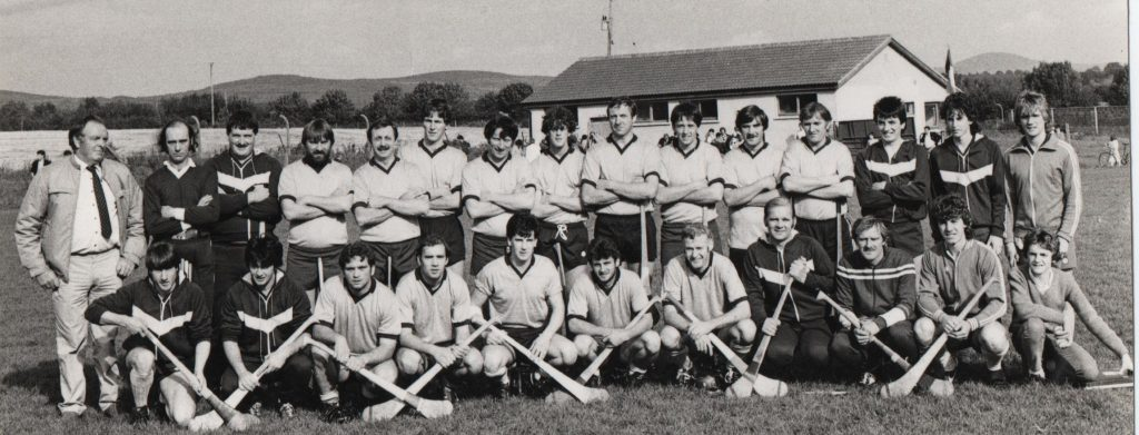 The Kilmacthomas victorious 1985 hurling team.