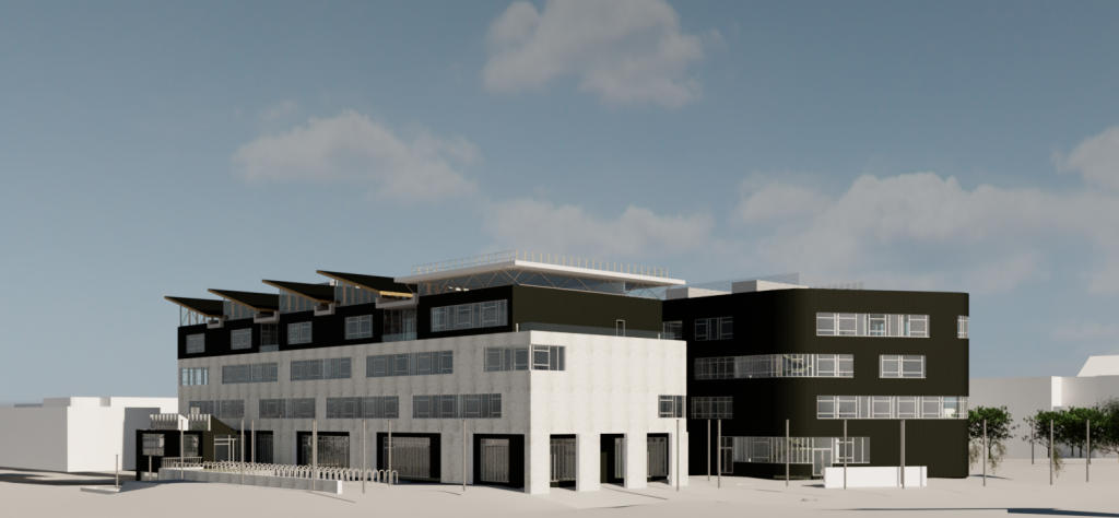The proposed 12,800 m2 Engineering, Computing and General Teaching building.