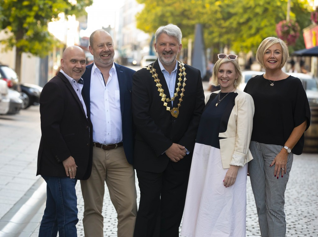 Pictured are Colin Byrne of Totem, Frank Ronan, Waterford Port, Jonathan Earl, Waterford Chamber President, Oren Little of Totem and a Director of Dungarvan Chamber and Deirdre Houlihan, Faithlegg House Hotel.  Pictures: Patrick Browne