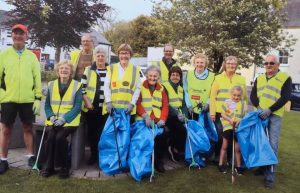 Members of Stradbally Tidy Towns pictured during a recent clean-up in the village.