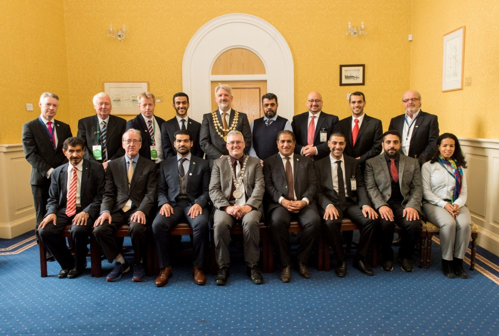 The visiting Saudi Arabian delegation pictured with Mayor of Waterford, Cllr John Pratt; Waterford Chamber President Jonathan Earl; Michael Quinn, Waterford Council and Gerald Hurley, CEO Waterford Chamber.