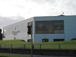 The former showrooms have now fallen into a state of disrepair