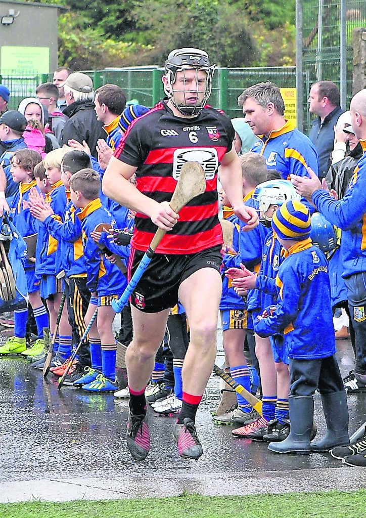 Ballygunner captain Philip Mahony leads his side out in Sixmilebridge.