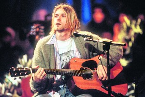 This cardigan worn by Kurt Cobain sold for €300,000 last week.