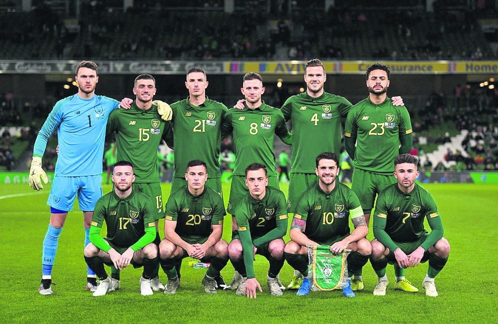The Republic of Ireland team that lined out against New Zealand last Thursday including Lee O'Connor (2) and Seanie Maguire (7) in the front row and Derrick Williams (23) in the back row.