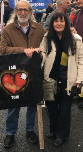 Stan and Bernadette Phillips pictured at the march in support of 24/7 cardiac care in Waterford in January.