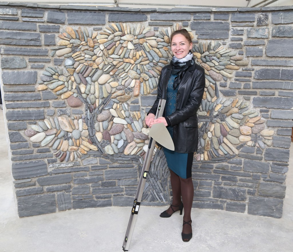 Jana Kudrnova with her beautiful stonework .