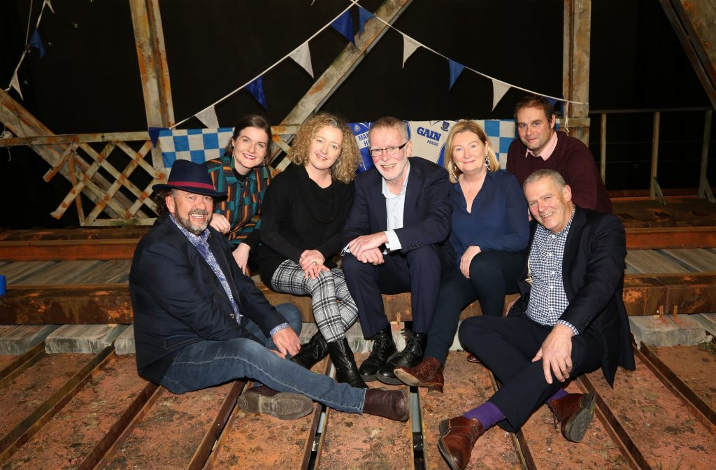 Pictured is  TV with Garter Lane Board Members Padraig O'Gríofa, (Chair), Aisling O'Neill, Síle Penkert, Executive Director of Garter Lane Arts Centre,  Clodagh Walsh, Cllr. Marc Ó Cathasaigh and Michael Grant. Photo: John Power