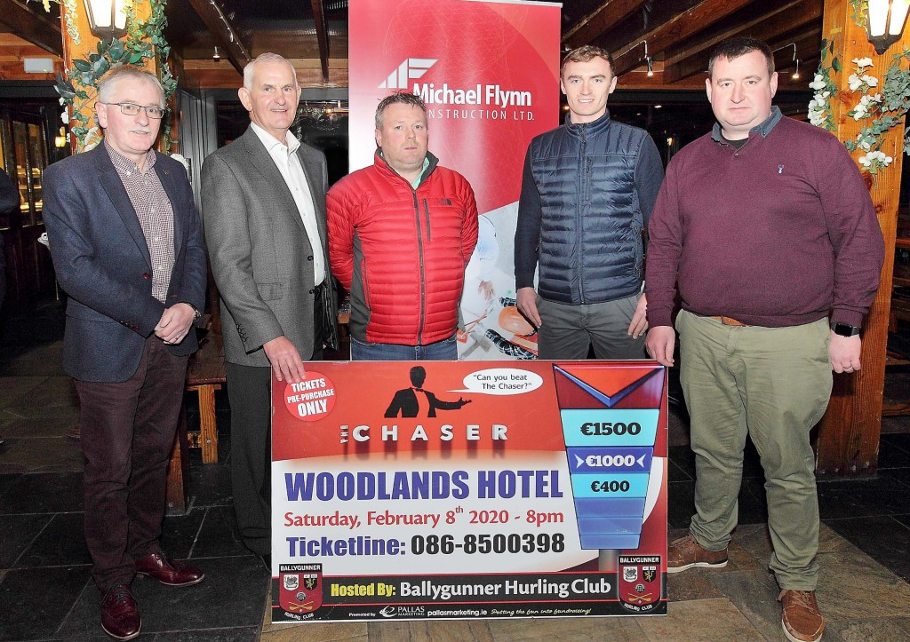 . Michael Flynn from Michael Flynn Construction Ltd, one of the sponsors is pictured at the launch with Liam Murphy, Gerry Cullinan, Pauric Mahony and Pat O'Sullivan from  Ballygunner GAA Club.