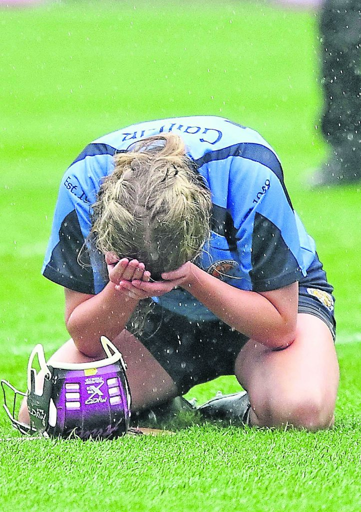The heartbreak and devastation experience by Gailltír after last year's All-Ireland final should be motivation enough ahead of the rematch against Clonduff next Sunday.   Photos: Noel Browne