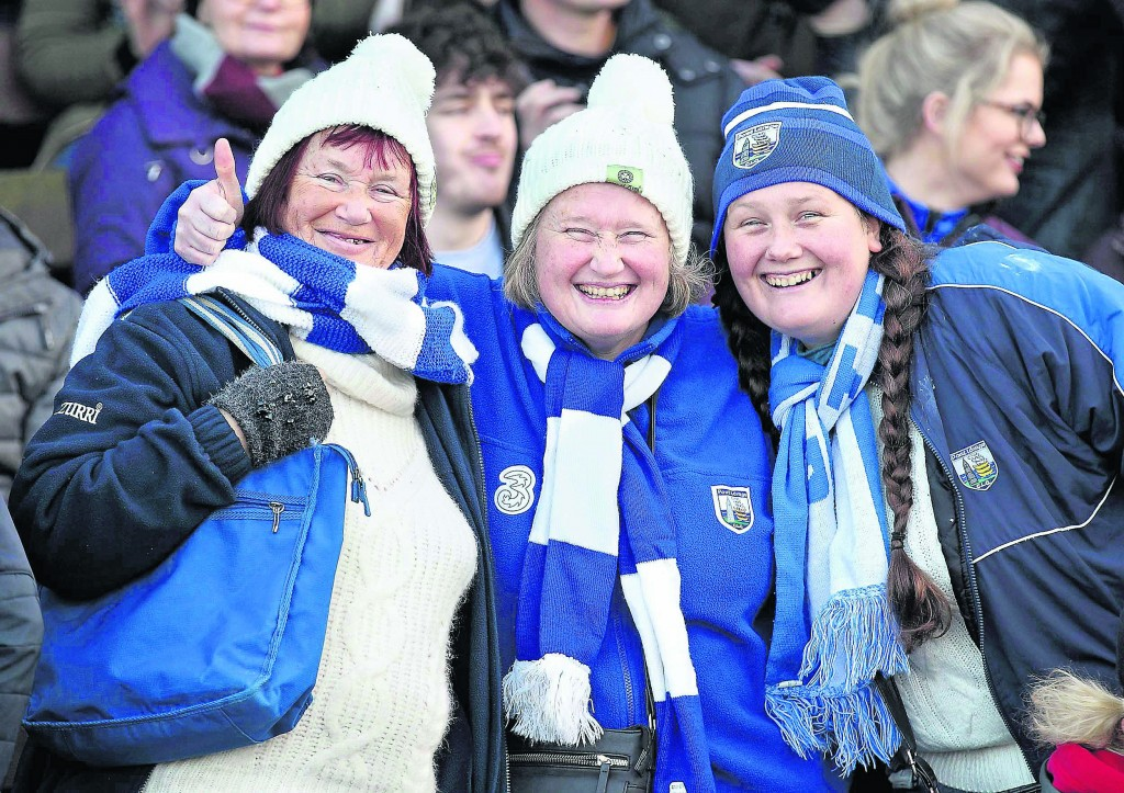 Waterford's best supporters, Shelly, Aoife and Bridget Phelan.