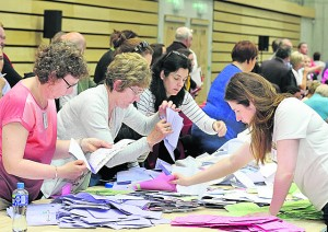 Waterford Local Election Count Centre, WIT Arena Saturday 25th M