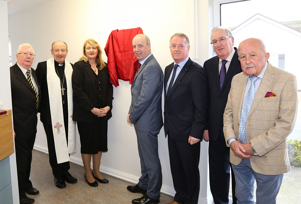 Pictured with Minister of State Jim Daly are Hilary Quinlan, Master of the Board; Bishop Alphonsus Cullinan, Bishop of Waterford & Lismore; Bridget Roche, Nurse Manager; and Board Members Paddy Gallagher, Maurice Cummins and Pat Hayes. Photos: John Power.