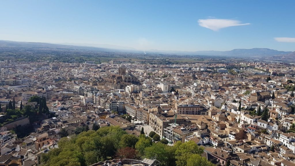A view of Granada from the Alhambra.