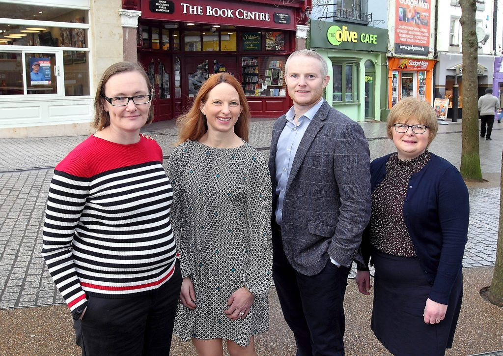 Lisa Grant, Waterford City and County Council, Maeve Ryan, The Book Centre, David Walsh, LEO Waterford and Catherine Kavanagh, The Book Centre. Photo: Noel Browne.