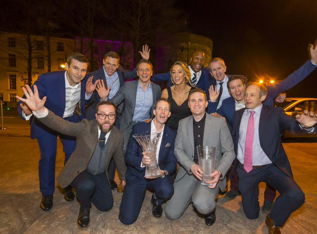 Who will take the coveted title of Overall Waterford Business of the Year at the Waterford Business Awards on Friday, February 28th in the Tower Hotel? Pictured are last year's winners Sanofi. Photo: Patrick Browne