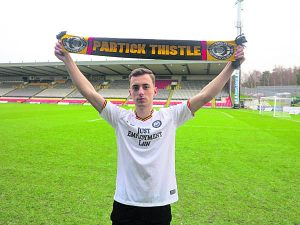 Lee O'Connor is on loan at Partick Thistle for the remainder of the season.