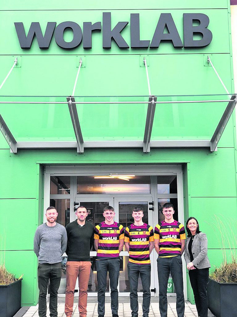 Worklab are the sponsors of the Harty Team for 2019/20. Iincluded in the picture are Paidi Nevin(Manager), Mark Moore(Manager) Reuben Halloran, Mark Kilgannon (Captain), Mark Fitzgerald, and Alicia Maguire (Manager of Worklab