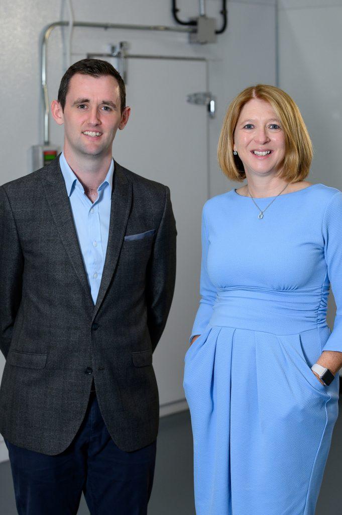 Q1 Scientific CEO Stephen Delaney and Company Founder Louise Grubb.