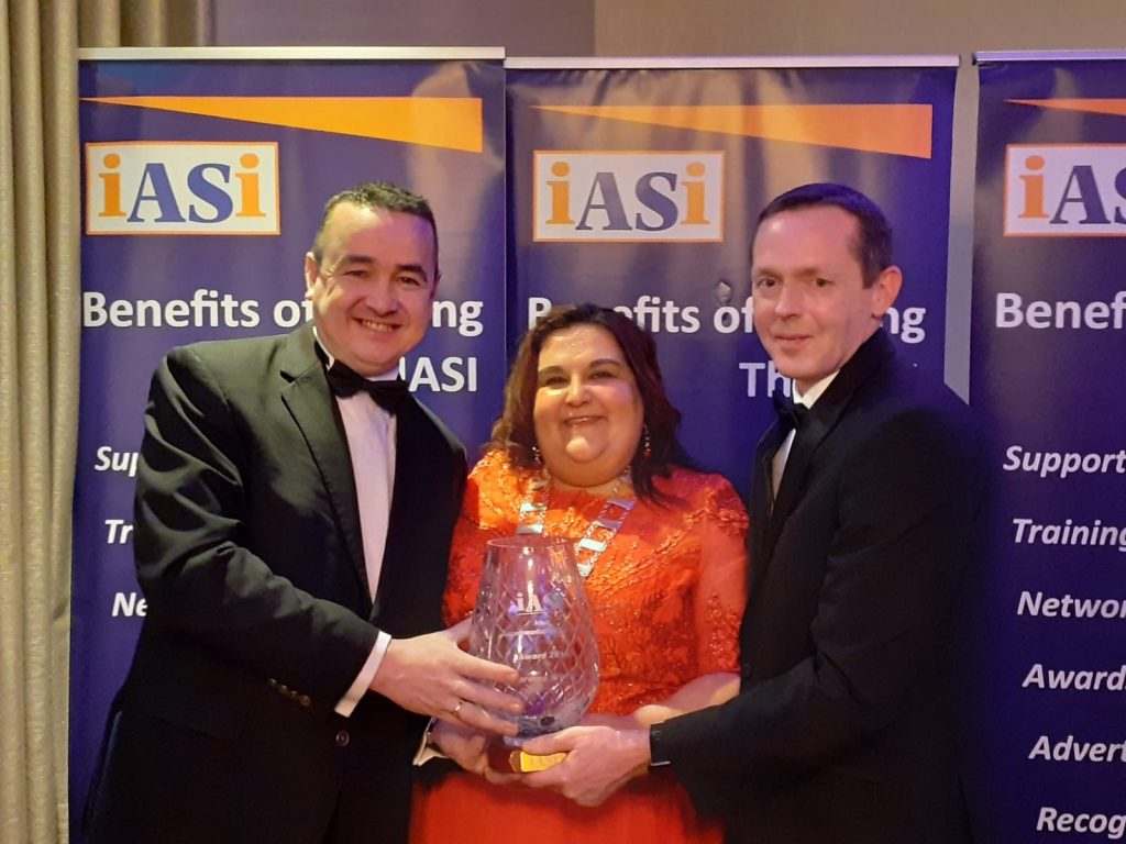 Niall Byrne, Rooms Division Manager, Ines Guerra, President of the IASI, Seamus O' Carroll General Manager.