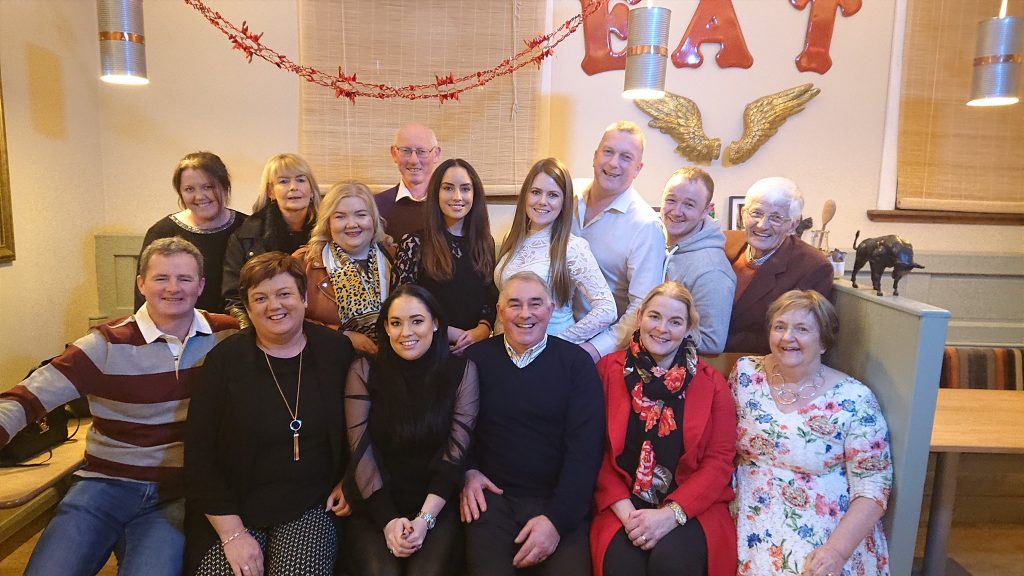 Musical Society committee and cast night out in December 2019.