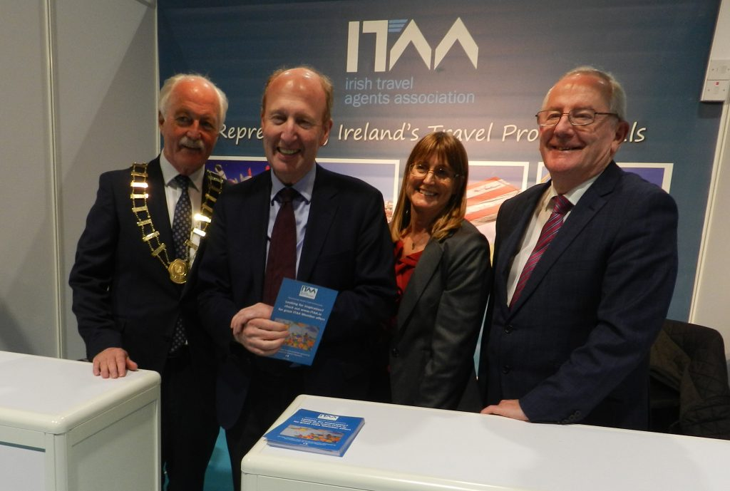 Minister for Tourism Shane Ross with Pat Dawson and John Spollen.