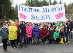 Members of Portlaw Musical Society pictured at the 2019 Portlaw St Patrick's Day Parade.