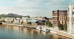 An image of the proposed development on the North Quays.