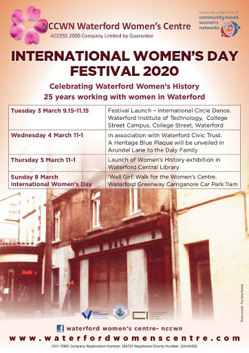 Waterford Women's Centre presents  International Women's Day Festival