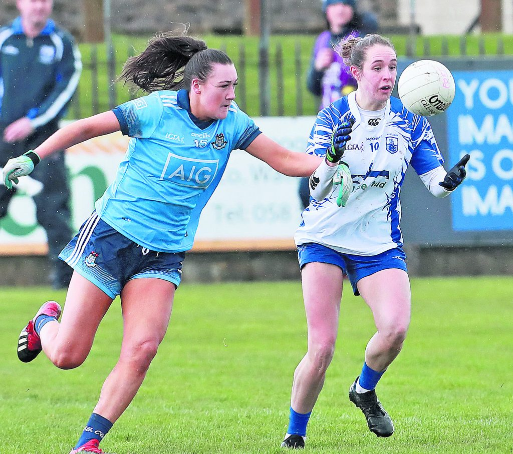 : Waterford's Roisin Tobin about to catch the ball against Dublin's Niamh Hetherton