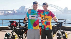 ON HOLD: Daithi and Paddy pictured in Sydney.