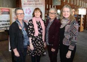 Breda Murphy, Women's Centre, Anne Fitzgerald, Women's Centre, Jane Cantwell, City & County Librarian and Sinead O'Higgins, Executive Librarian, Central Library. Photos: John Power
