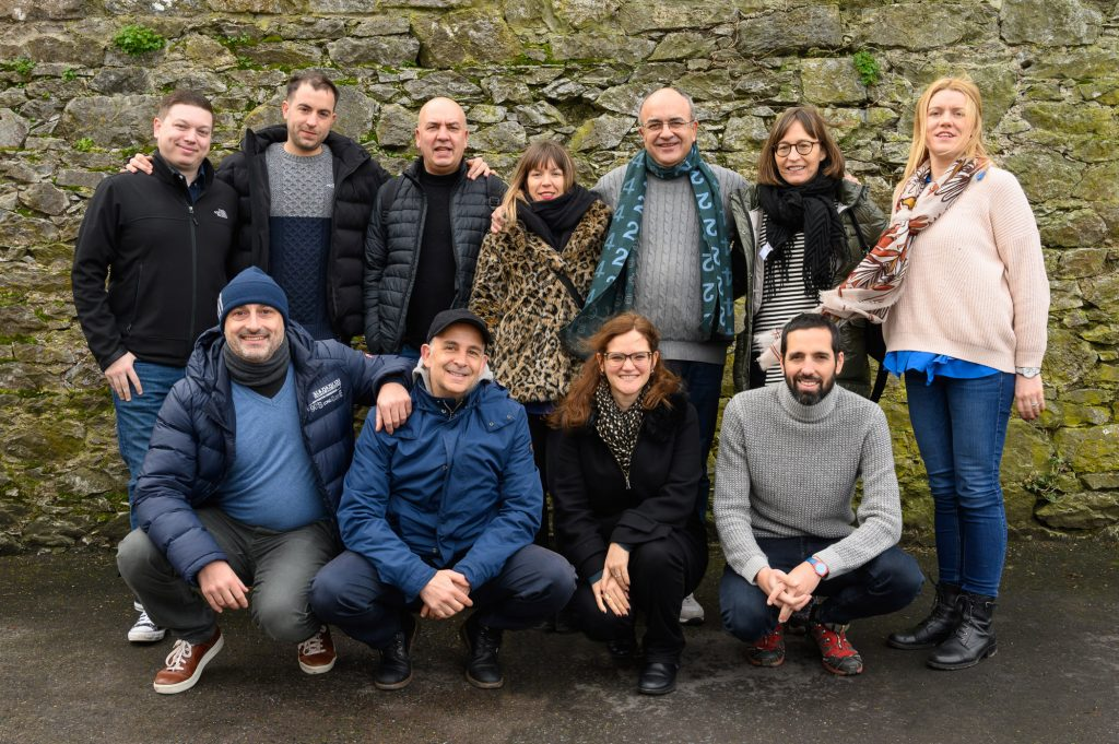 Top-producing travel agents from leading Spanish tour operator, Catai, with Susan Bolger (back row, right), Tourism Ireland; and Peter McMahon (back row, left), Fáilte Ireland, during their action-packed tour of Ireland