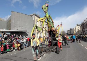 One of the many float's in last year's St Patrick's Day Parade in Waterford. Photo: Noel Browne.