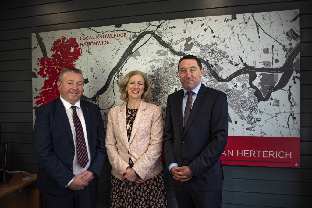 John Buggy, Chairman of the Property Partners group with Deirdre Phelan and Barry Herterich of Property Partners Phelan Herterich.