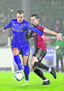 Michael O' Connor in action for Waterford FC against Bohemians on February 21st.  Photo: Noel Browne