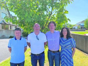L-R: Trevor Gallagher (brother), Ciaran Godkin (brother-in-law), Thomas (Tom) Gallagher and Therese Godkin (sister).