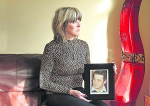 Christina Donnelly with a picture of her son Brendan who was killed in a road crash in October 2009. Photo: Noel Browne.