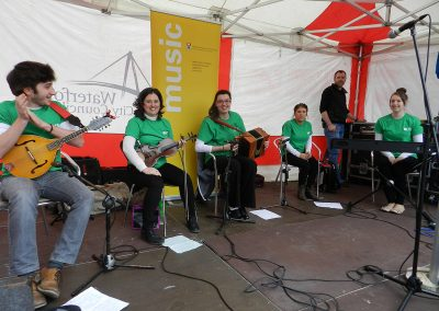 Patricks Day John Roberts Square musicians from WIT