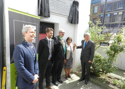 Plaque unveiling Camden London