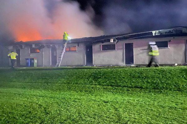 Gardai investigating soccer club blaze